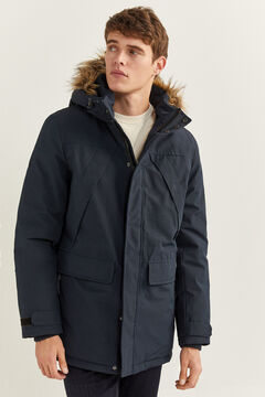 Springfield PARKA COMPRIDA REPELENTE À ÁGUA ENCHIMENTO DUPONT™ SORONA® KEEP IT WARM! azul