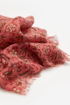 Springfield Virág- és levélmintás kendő piros