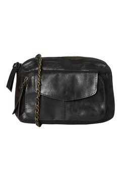 Springfield Leather crossbody bag black