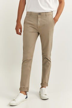 Springfield SKINNY CHINOS brown
