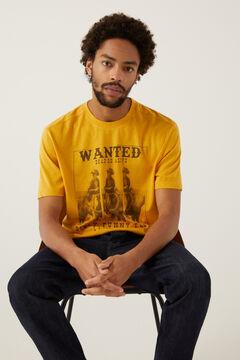 Springfield T-shirt estampada fotográfica camelo