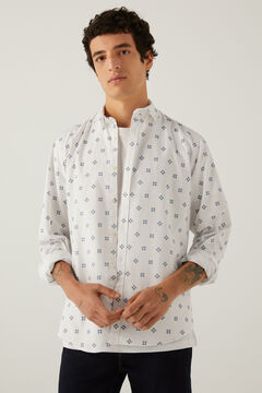 Springfield Stretch pinpoint shirt natural