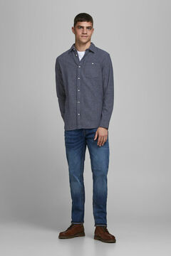 Springfield Sustainable printed shirt marineblau