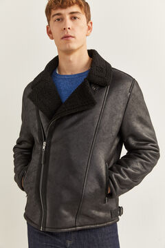 Springfield DOUBLE-FACED FAUX LEATHER PERFECT JACKET black
