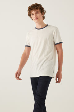 Springfield Contrasting t-shirt ecru