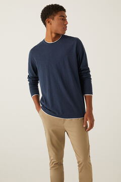 Springfield Linen cotton layered jumper bluish