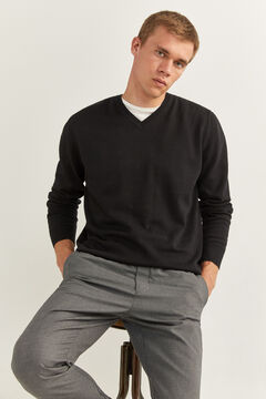 Springfield V-NECK JUMPER black
