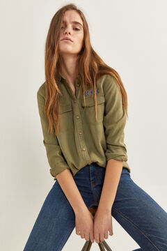 Springfield Tencel Military Blouse green water