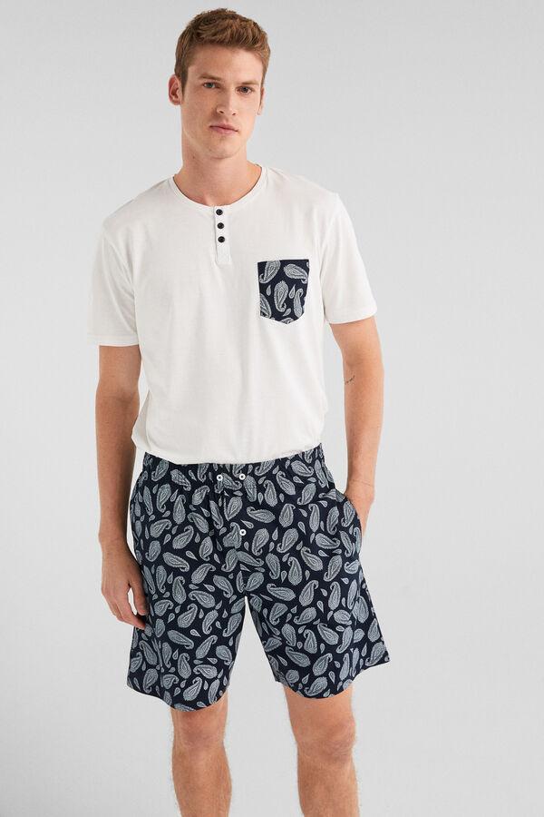 05c0eae2e0 Springfield Pijamas corto pasley azul