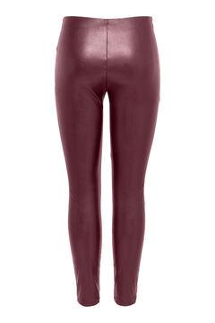 Springfield Leather elasticated waist leggings piros
