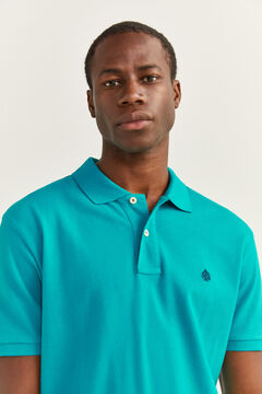 Springfield ESSENTIAL PIQUE POLO SHIRT petrol