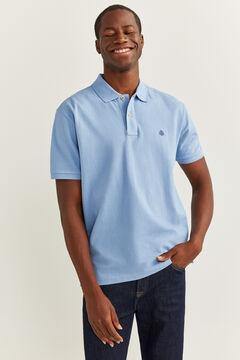 Springfield Essential piqué polo shirt blue