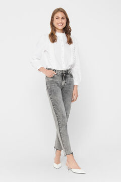 Springfield Lace detail shirt blanc