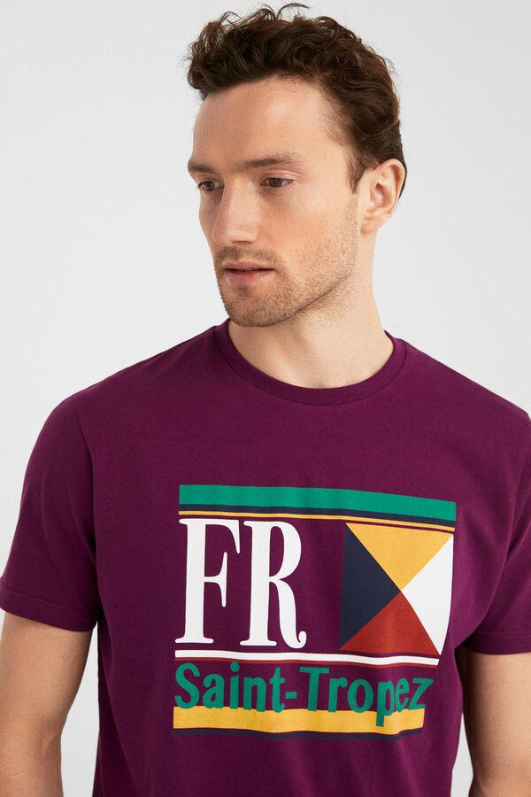 5c27be3655d Springfield Regular Saint Tropez short sleeve t-shirt blue. Shop Now!