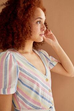 Springfield Midi-Kleid Leinen Bio-Baumwolle color