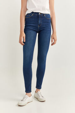 Springfield High Rise Sculpt Jeans blue