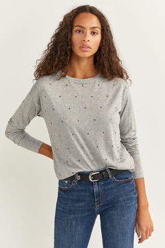 Springfield Camiseta Tachas gris