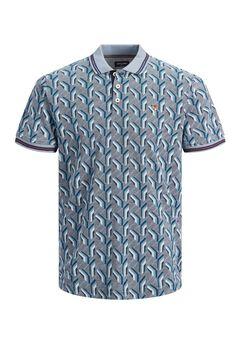 Springfield Printed polo shirt bluish