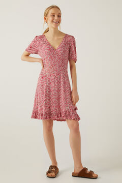Springfield Printed mini dress red