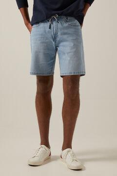 Springfield Light wash super lightweight denim Bermuda shorts indigo blue
