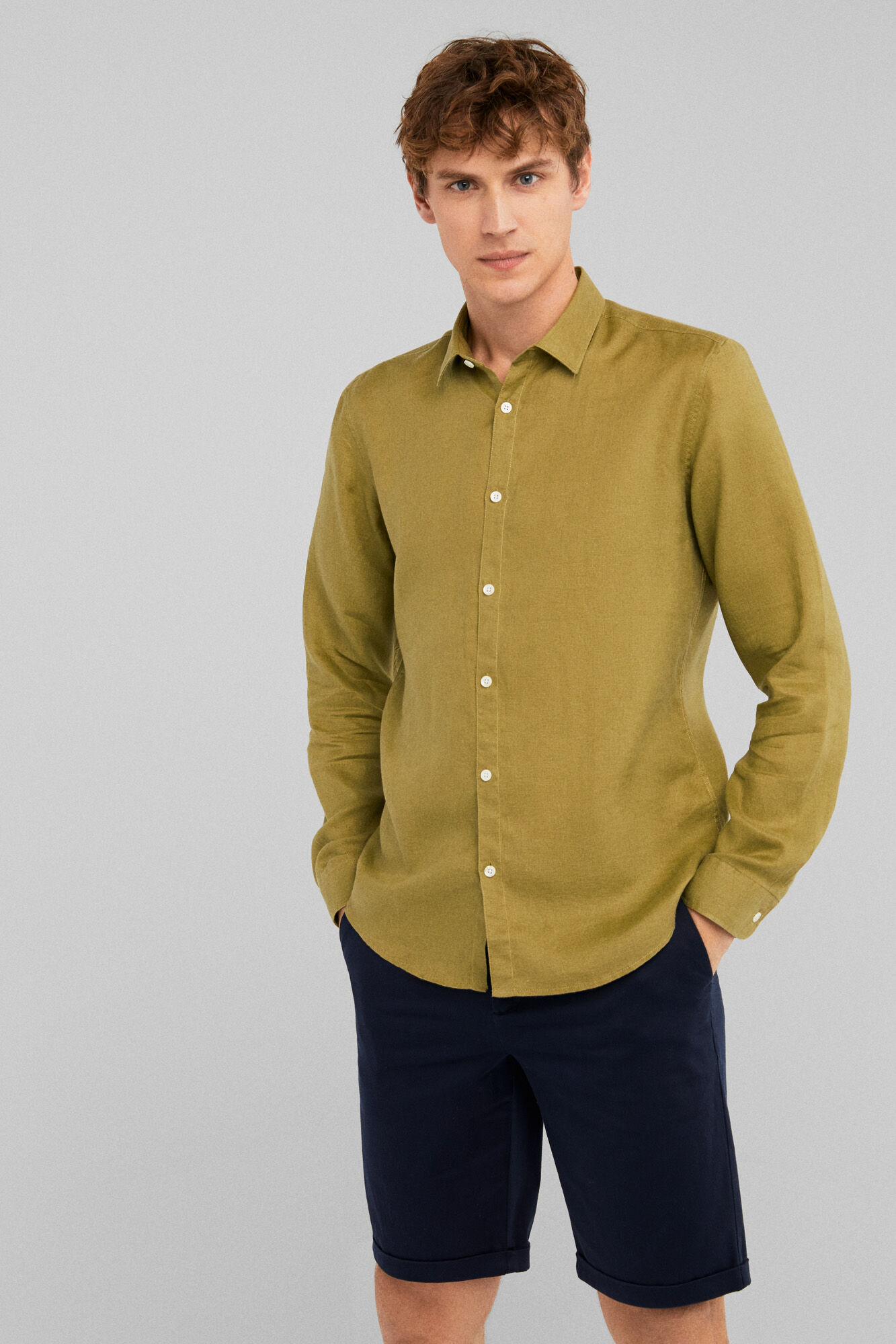 155d80fb07 Springfield Camisa lino premium esmeralda