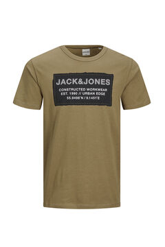 Springfield Central print t-shirt brown