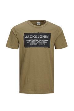 Springfield Camiseta estampado central marrón