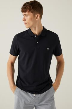 Springfield Slim fit lightweight polo shirt navy