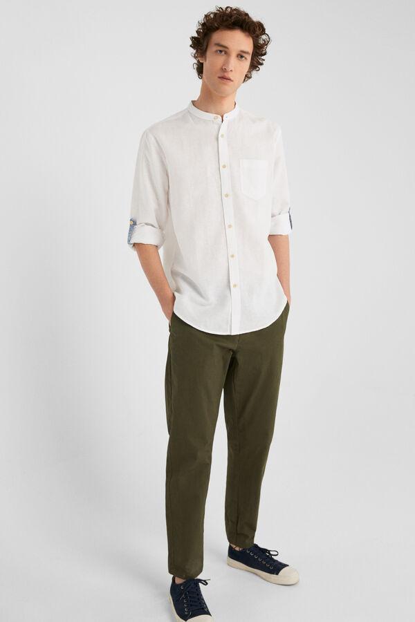 b64c6464e9232 Springfield Camisa linho branco