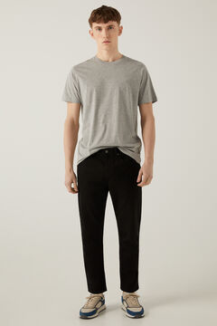 Springfield Washed 5-pocket trousers black