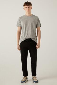 Springfield Pantalón 5 bolsillos lavado negro