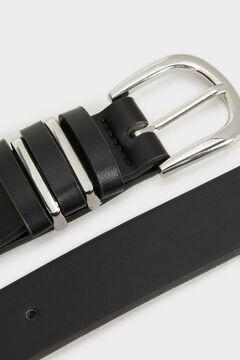 Springfield Cinturón liso negro