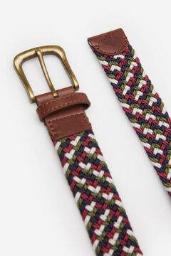 Springfield MULTICOLOURED WOVEN BELT deep red