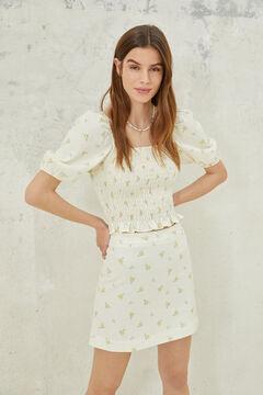 Springfield Short linen A-line skirt grey