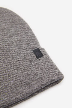 Springfield TEXTURED MOTTLED KNIT HAT grey