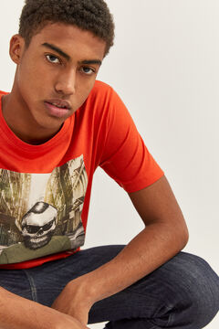 Springfield Sustainable printed t-shirt red