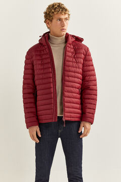 Springfield QUILTED HOODED JACKET deep red