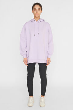 Springfield Oversize hooded sweatshirt purple
