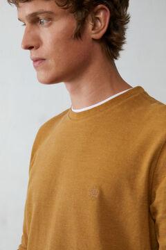 Springfield Long-sleeved piqué T-shirt color