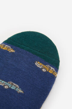 Springfield No-show socks with cars indigo blue