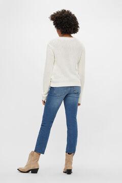 Springfield Knit jumper blanc