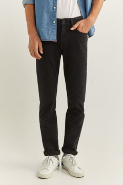 Springfield Black slim fit bi-stretch jeans black
