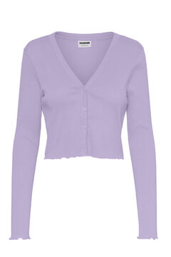 Springfield Crop cardigan purple