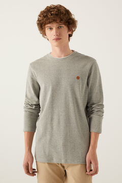 Springfield Long-sleeved textured t-shirt gray