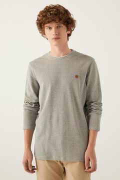 Springfield T-shirt manches longues texturé gris