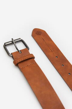 Springfield FAUX LEATHER BELT WITH STITCHING stone