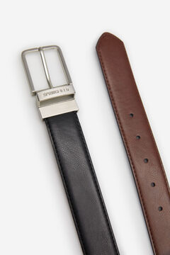 Springfield REVERSIBLE ESSENTIAL FAUX LEATHER BELT brown
