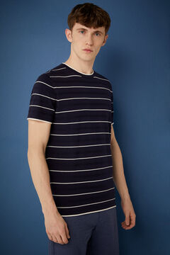 Springfield Striped tricot T-shirt navy