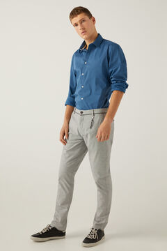 Springfield Textured two-tone formal chinos grey