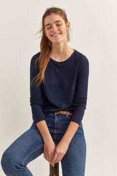 Springfield Camiseta lace espalda azul indigo
